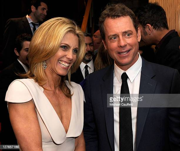 "Actor Greg Kinnear and wife Helen Labdon attend the after party for ""The Kennedys"" world premiere held at AMPAS Samuel Goldwyn Theater on March 28,..."