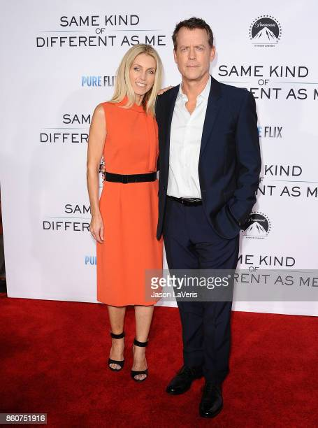 """Actor Greg Kinnear and wife Helen Labdon attend the premiere of """"Same Kind of Different as Me"""" at Westwood Village Theatre on October 12, 2017 in..."""