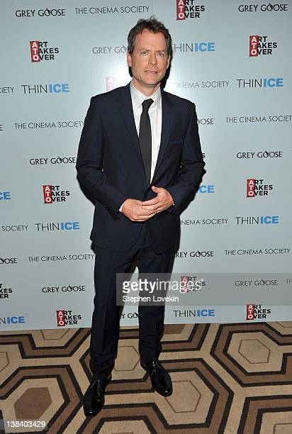 Actor Greg Kinnear attends The Cinema Society Grey Goose screening of 'Thin Ice' at the Tribeca Grand Hotel on February 6 2012 in New York City
