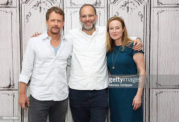 Actor Greg Kinnear, filmmaker Ira Sachs and actress Jennifer Ehle attend AOL Build Presents Ira Sachs, Greg Kinnear And Jennifer Ehle Discussing...