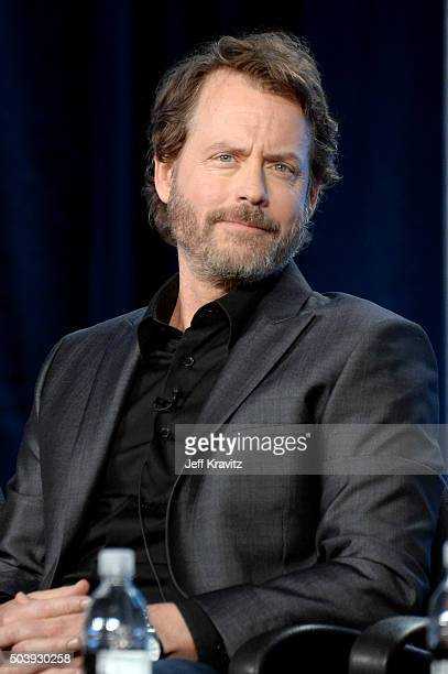 Actor Greg Kinnear of 'Confirmation' speaks onstage during the HBO Winter 2016 TCA Panel at Langham Hotel on January 7 2016 in Pasadena California