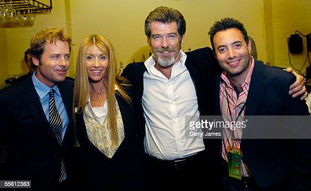 "Actor Greg Kinnear, producer Beau St. Clair, actor Pierce Brosnan and writer/director Richard Shepard attend the afterparty for the film ""The..."