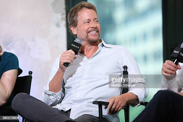 "Actor Greg Kinnear speaks at AOL Build Presents Ira Sachs, Greg Kinnear And Jennifer Ehle Discussing Their Film ""Little Men"" at AOL HQ on July 25,..."