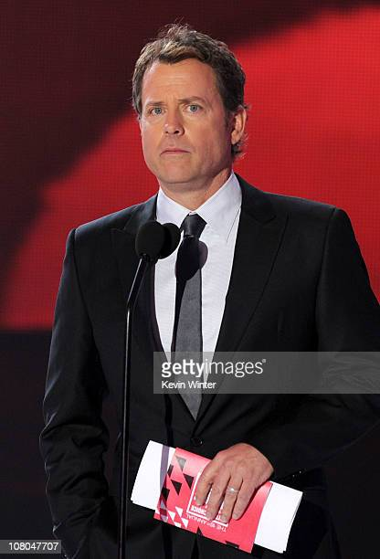 Actor Greg Kinnear speaks onstage during the 16th annual Critics' Choice Movie Awards at the Hollywood Palladium on January 14, 2011 in Los Angeles,...