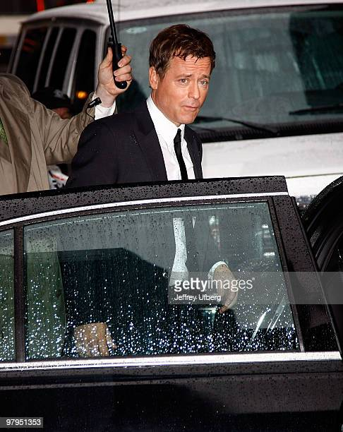 Actor Greg Kinnear visits Late Show With David Letterman at the Ed Sullivan Theater on March 22 2010 in New York City