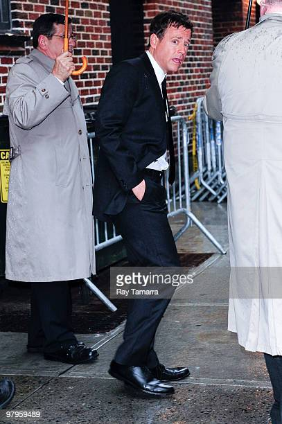 Actor Greg Kinnear visits the Late Show With David Letterman at the Ed Sullivan Theater on March 22 2010 in New York City