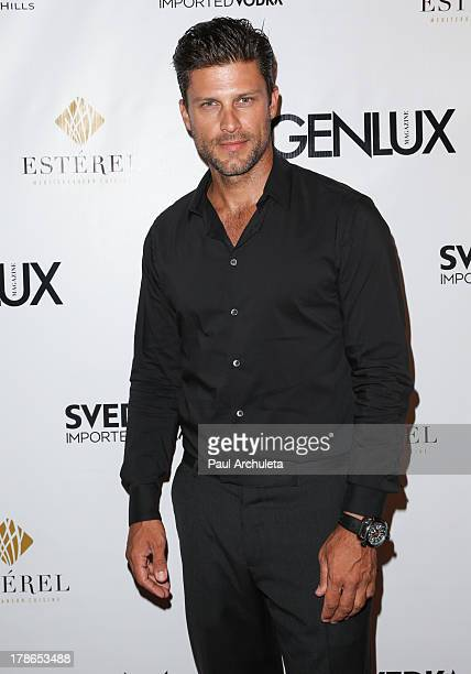 Actor Greg Vaugha attends the Genlux Magazine release party at Sofitel Hotel on August 29 2013 in Los Angeles California