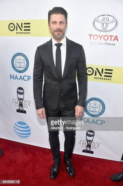 Actor Greg Vaughan attends the 48th NAACP Image Awards at Pasadena Civic Auditorium on February 11 2017 in Pasadena California