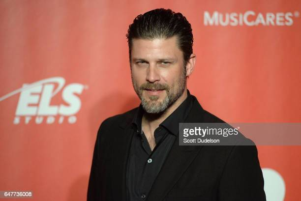 Actor Greg Vaughan of Queen Sugar attends the 2017 MusiCares Person of the Year preshow arrival red carpet on February 10 2017 in Los Angeles...