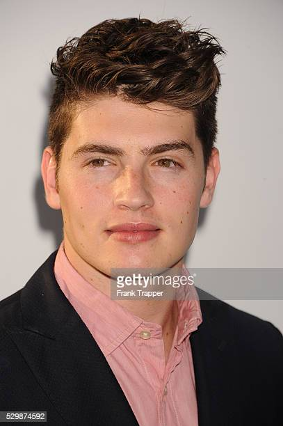 Actor Gregg Sulkin arrives at the premiere of Furious 7 held at the TCL Chinese Theater in Hollywood