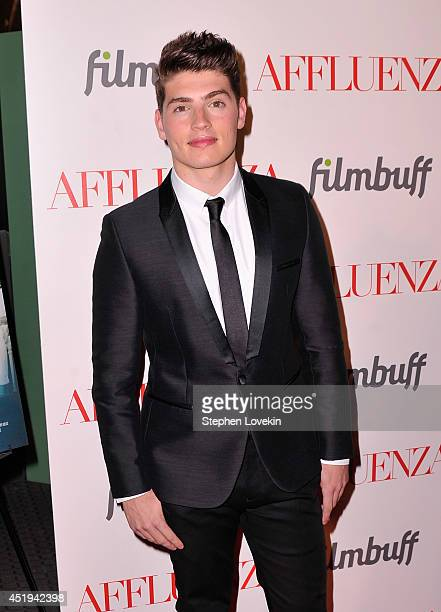 Actor Gregg Sulkin attends the 'Affluenza' premiere at SVA Theater on July 9 2014 in New York City