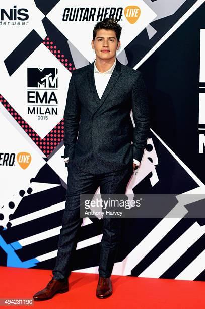 Actor Gregg Sulkin attends the MTV EMA's 2015 at the Mediolanum Forum on October 25 2015 in Milan Italy