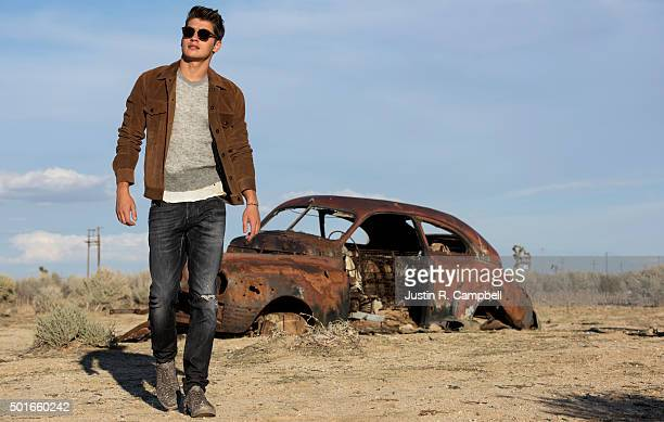 Actor Gregg Sulkin is photographed for Flaunt Magazine on October 19 2015 in Los Angeles California