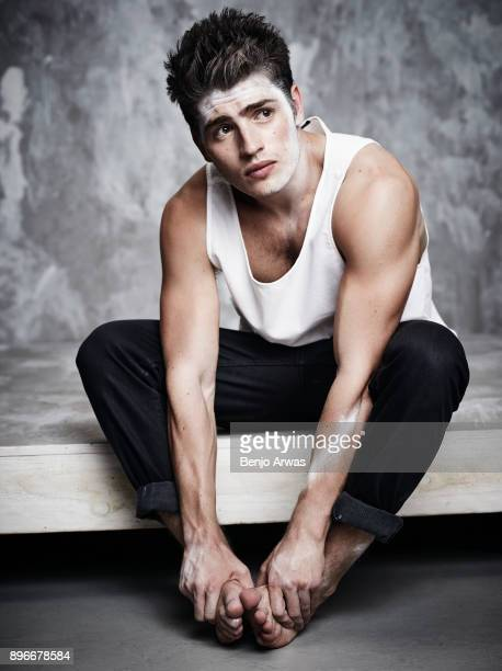 Actor Gregg Sulkin is photographed for The Fashionisto on September 16 2015 in Los Angeles California