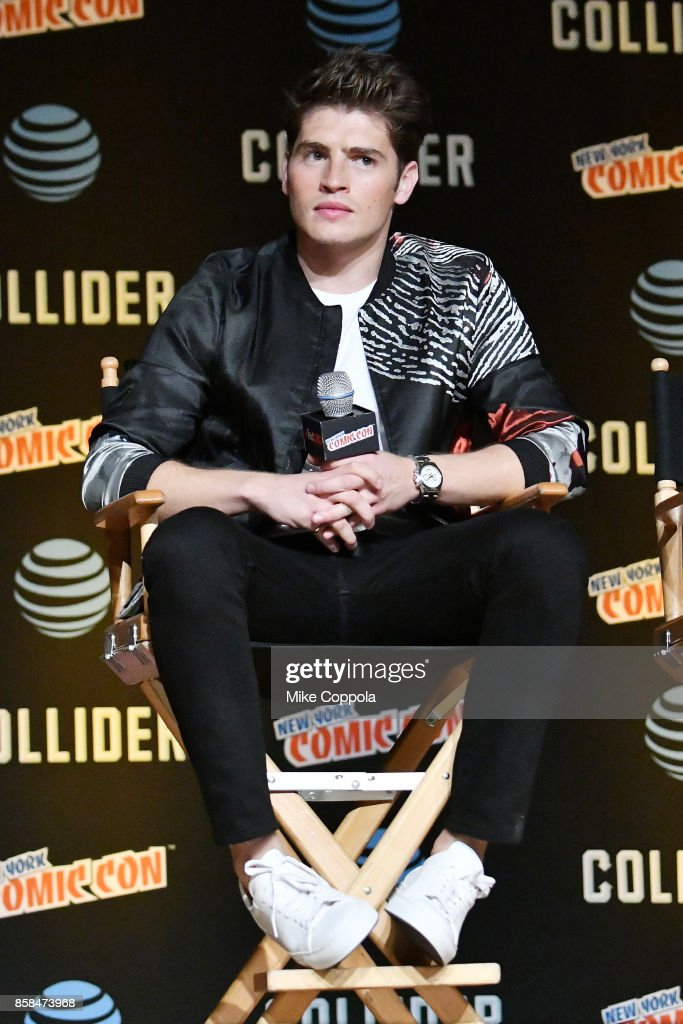 Actor Gregg Sulkin participates in Hulu's Runaways panel at New York Comic Con at Jacob Javits Center on October 6, 2017 in New York City.