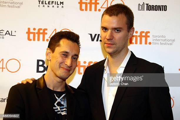 Actor Gregoire Colin and writer/director David Verbeek attend the Full Contact photo call during the 2015 Toronto International Film Festival at The...