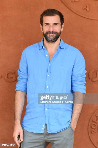 Actor Gregory Fitoussi attends the 2018 French Open Day Seven at Roland Garros on June 2 2018 in Paris France