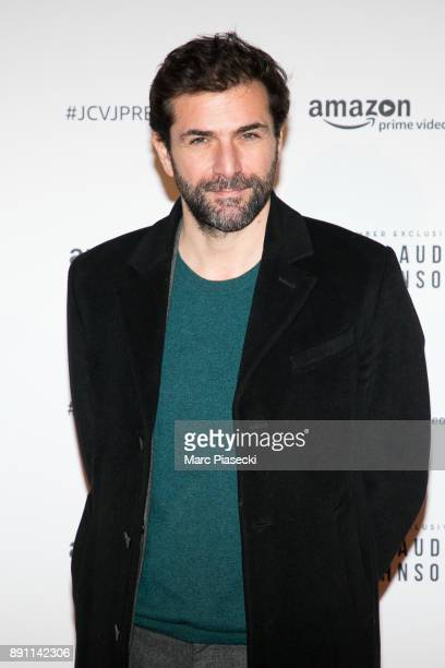 Actor Gregory Fitoussi attends the Amazon TV series 'Jean Claude Van Johnson' Premiere at Le Grand Rex on December 12 2017 in Paris France