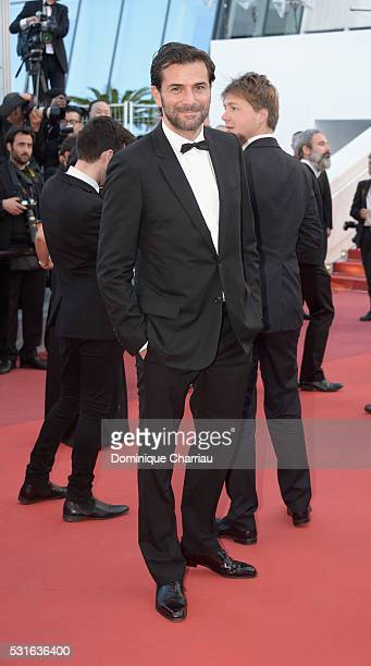Actor Gregory Fitoussi attends the 'From The Land Of The Moon ' premiere during the 69th annual Cannes Film Festival at the Palais des Festivals on...