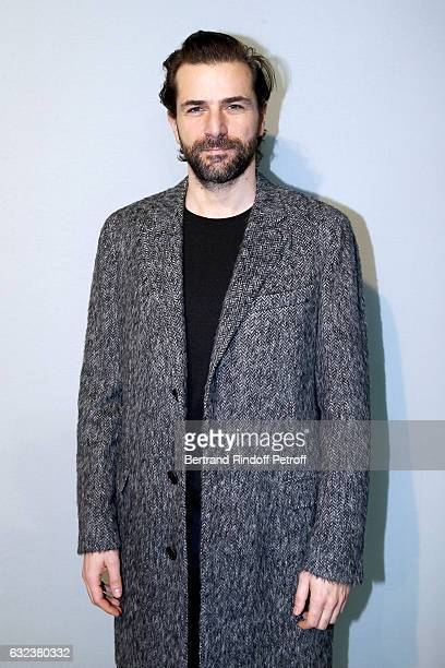 Actor Gregory Fitoussi attends the Lanvin Menswear Fall/Winter 20172018 show as part of Paris Fashion Week on January 22 2017 in Paris France