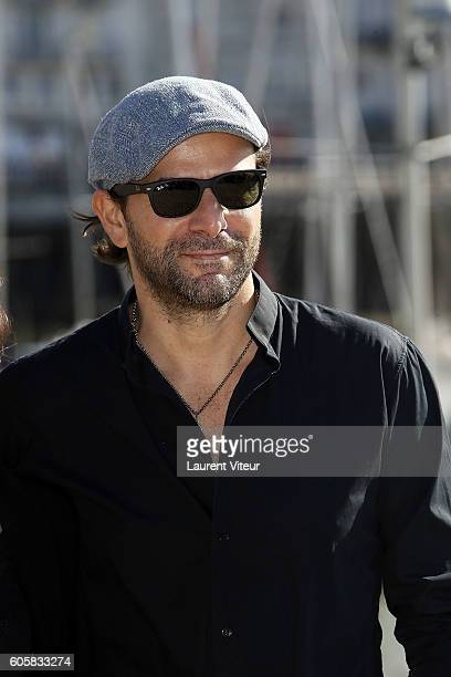 Actor Gregory Fitoussi attends the 'Les Hommes de l'Ombre' Photocall during the 18th Festival of TV Fiction on September 15 2016 in La Rochelle France