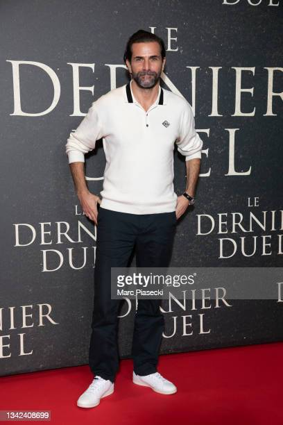 """Actor Gregory Fitoussi attends the """"The Last Duel"""" premiere At Gaumont Champs Elysees In Paris on September 24, 2021 in Paris, France."""