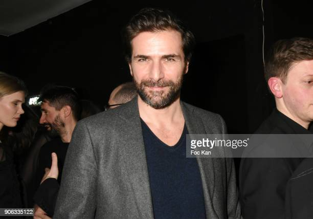 Actor Gregory Fitoussi attends YSL Beauty Party During Paris Fashion Week Menswear Fall/Winter 20182019 on January 17 2018 in Paris France