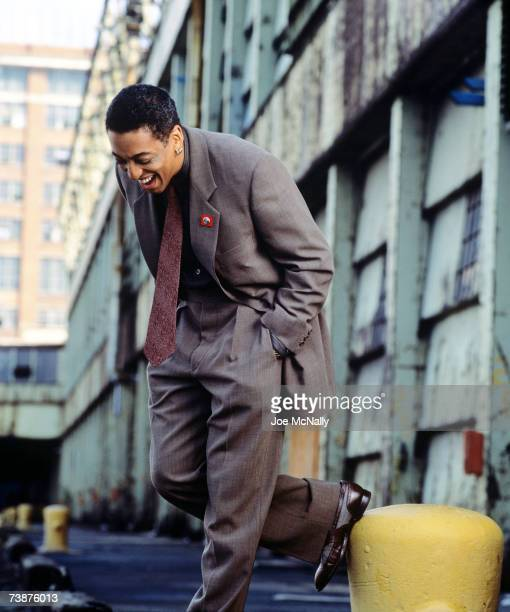 Actor Gregory Hines poses on a downtown New York City street on October 1992 in New York City