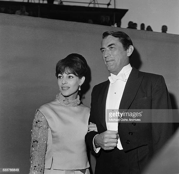 Actor Gregory Peck and his wife Veronique Passani attend an event in Los Angeles,CA.