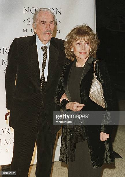Actor Gregory Peck and wife Veronique arrive for the premiere of the documentary film The Art of Norton Simon November 29 2000 at the Norton Simon...