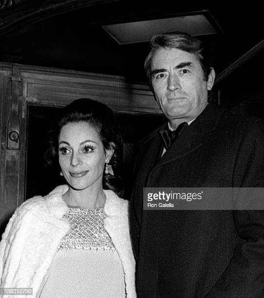 Actor Gregory Peck and wife Veronique Peck attend Le Bal Blanc Gala on January 13, 1969 at the St. Regis Hotel in New York City.
