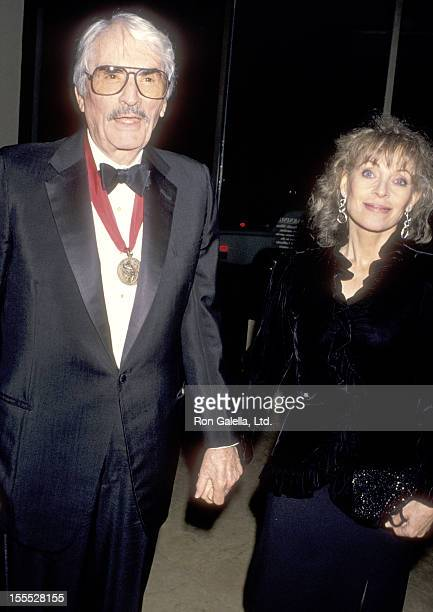 Actor Gregory Peck and wife Veronique Peck attend the American Friends of the Hebrew University's Scopus Award Honoring Ted Turner on January 14 1995...