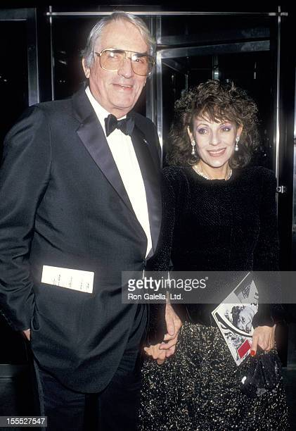 Actor Gregory Peck and wife Veronique Peck attend the Audrey Hepburn's Film Retrospective and Tribute Gala on October 21 1987 at The Museum of Modern...