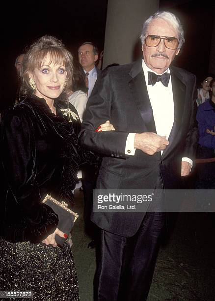 Actor Gregory Peck and wife Veronique Peck attend The Daily Variety Salutes Army Archerd on January 29 1993 at Beverly Hilton Hotel in Beverly Hills...