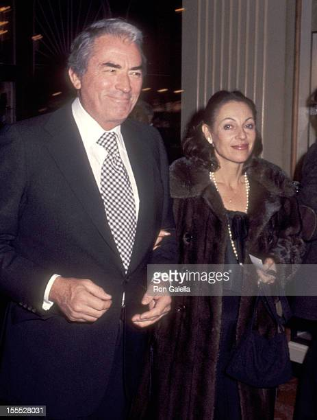 Actor Gregory Peck and wife Veronique Peck attend the Fifth Annual American Film Institute Lifetime Achievement Award Salute to Bette Davis on March...