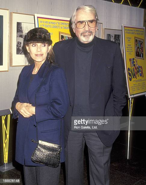 Actor Gregory Peck and wife Veronique Peck attend The Snapper West Hollywood Premiere on November 29 1993 at DGA Theatre in West Hollywood California