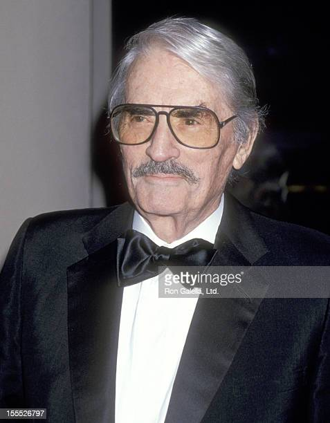 Actor Gregory Peck attends the 23rd Annual American Film Institute Lifetime Achievement Award Salute to Steven Spielberg on March 2 1995 at Beverly...