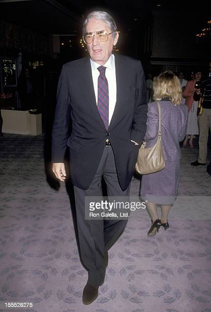 Actor Gregory Peck attends the 59th Annual Academy Awards Nominees Luncheon on March 18 1987 at Beverly Hilton Hotel in Beverly Hills California