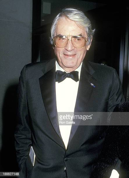 Actor Gregory Peck attends the Audrey Hepburn's Film Retrospective and Tribute Gala on October 21 1987 at The Museum of Modern Art in New York City