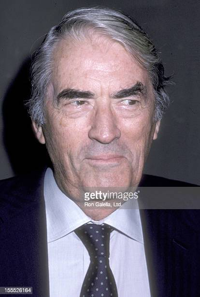 Actor Gregory Peck attends the Lady Day at Emerson's Bar Grill Opening Night Performance on September 10 1986 at Westside Arts Theatre in New York...