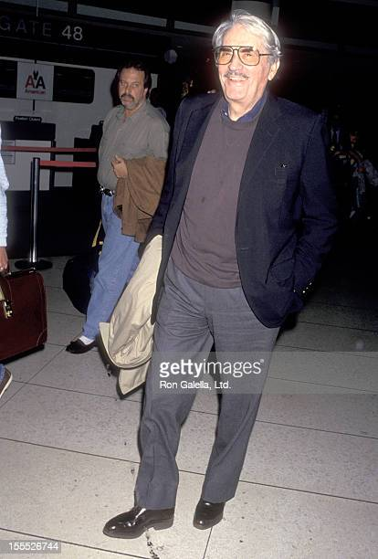 Actor Gregory Peck on April 20 1993 arrives at the Los Angeles International Airport in Los Angeles California