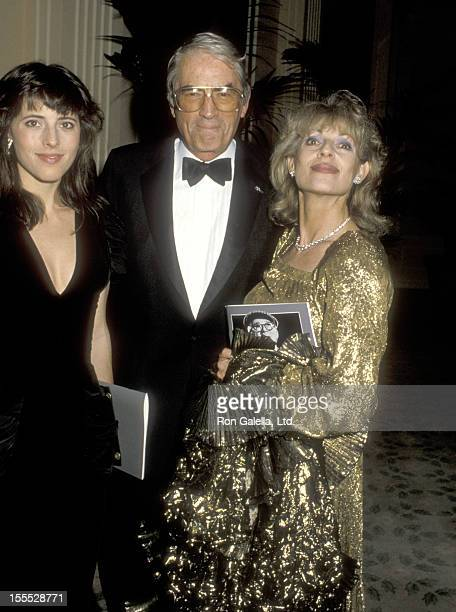 Actor Gregory Peck wife Veronique Peck and daughter Cecilia Peck attend the 14th Annual American Film Insitute Lifetime Achievement Award Salute to...