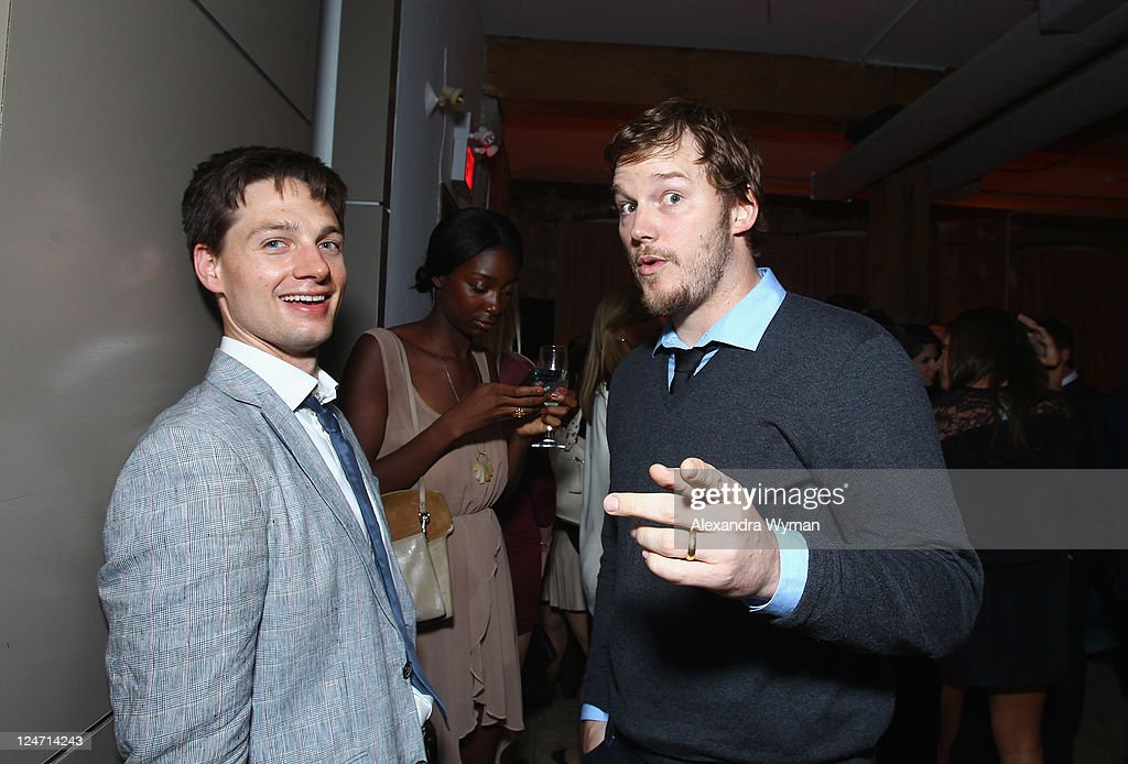 Actor Gregory Smith and Chris Pratt attend 'A Dangerous Method' party hosted by GREY GOOSE Vodka at Soho House Pop Up Club during the 2011 Toronto International Film Festival on September 10, 2011 in Toronto, Canada.