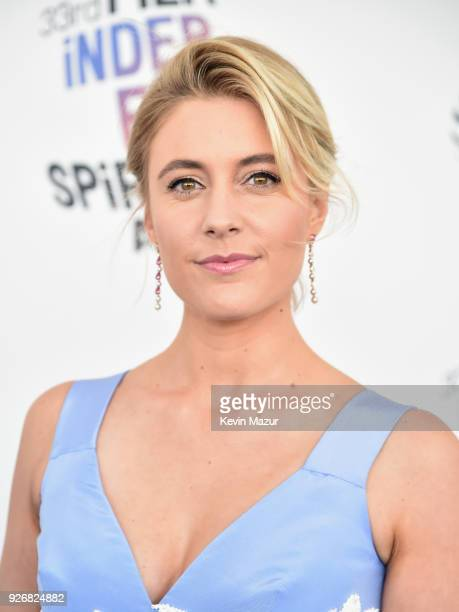 Actor Greta Gerwig attends the 2018 Film Independent Spirit Awards on March 3 2018 in Santa Monica California