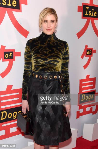 Actor Greta Gerwig attends the 'Isle Of Dogs' New York Screening at The Metropolitan Museum of Art on March 20 2018 in New York City