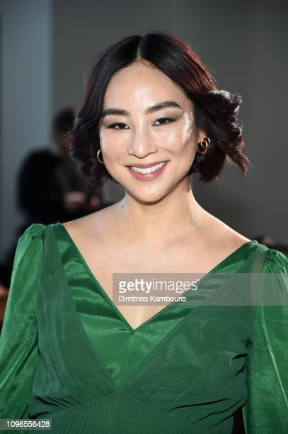 Actor Greta Lee attends the Self-Portrait front row during New York Fashion Week: The Shows at Gallery I at Spring Studios on February 9, 2019 in New...