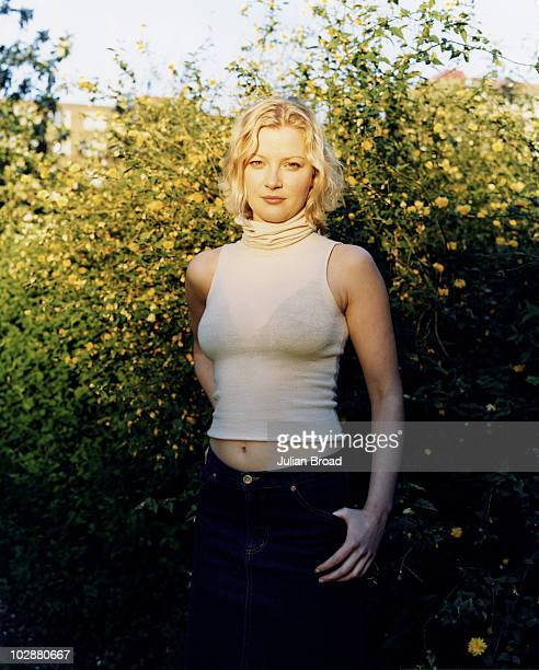 Actor Gretchen Mol poses for a portrait shoot in London