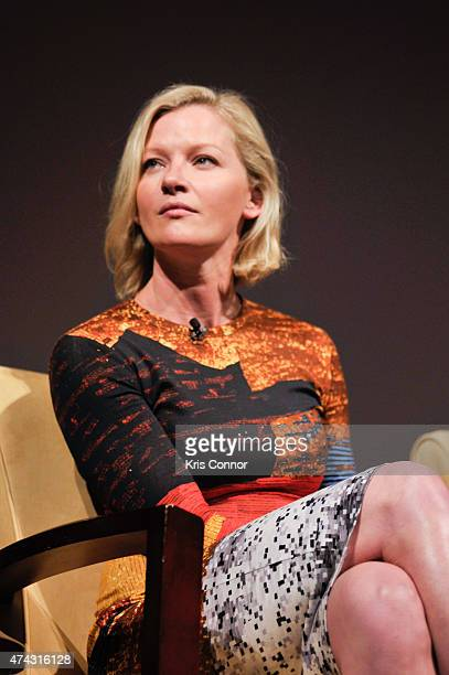 Actor Gretchen Mol speaks during a discussion regarding how the show Boardwalk Empire recreated the realism and texture of Prohibitionera Atlantic...