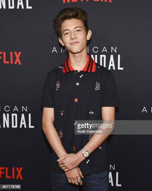 Actor Griffin Gluck attends the premiere of Netflix's American Vandal at ArcLight Hollywood on September 14 2017 in Hollywood California