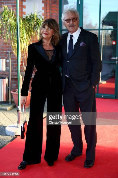 Actor Guenther Maria Halmer and wife Claudia Halmer poses during the Steiger Award at Coal Mine Hansemann Alte Kaue on March 25 2017 in Dortmund...